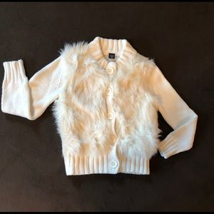 GAP Fur Botton Down Sweater